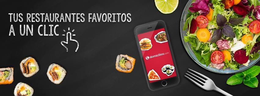 Tusrestaurantes favoritos a un clic, en Domicilios.com