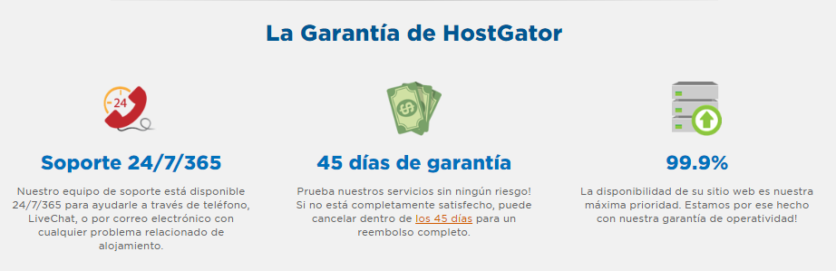 Hostgator México garantías