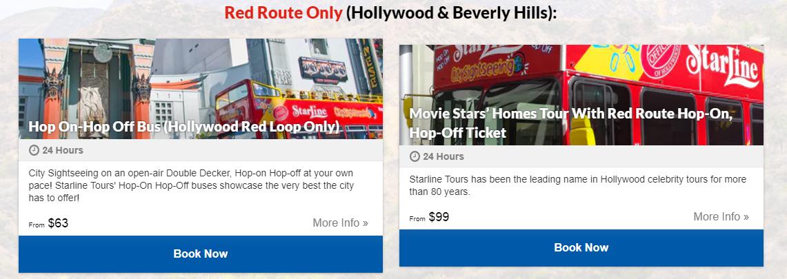 StarLine Tours destinos