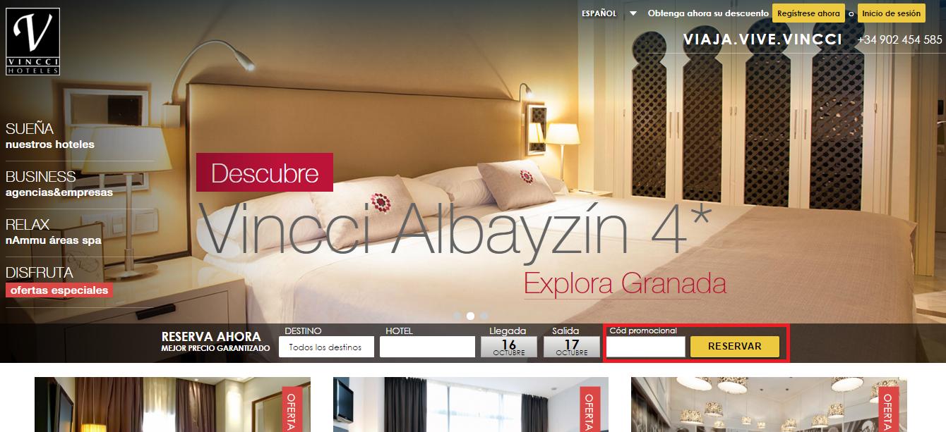 Descuento Código Promocional Vincci Hotels