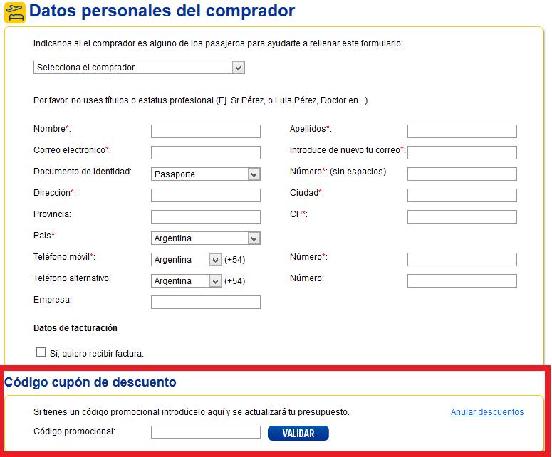 Descuento Código Promocional eDreams Argentina