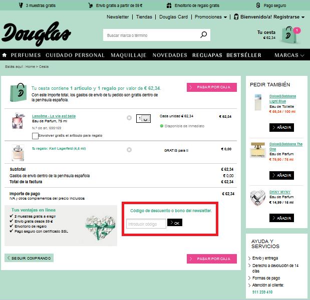 Descuento Código Descuento Douglas