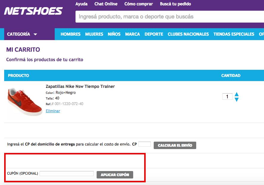 Descuento Cupón Descuento Netshoes Argentina