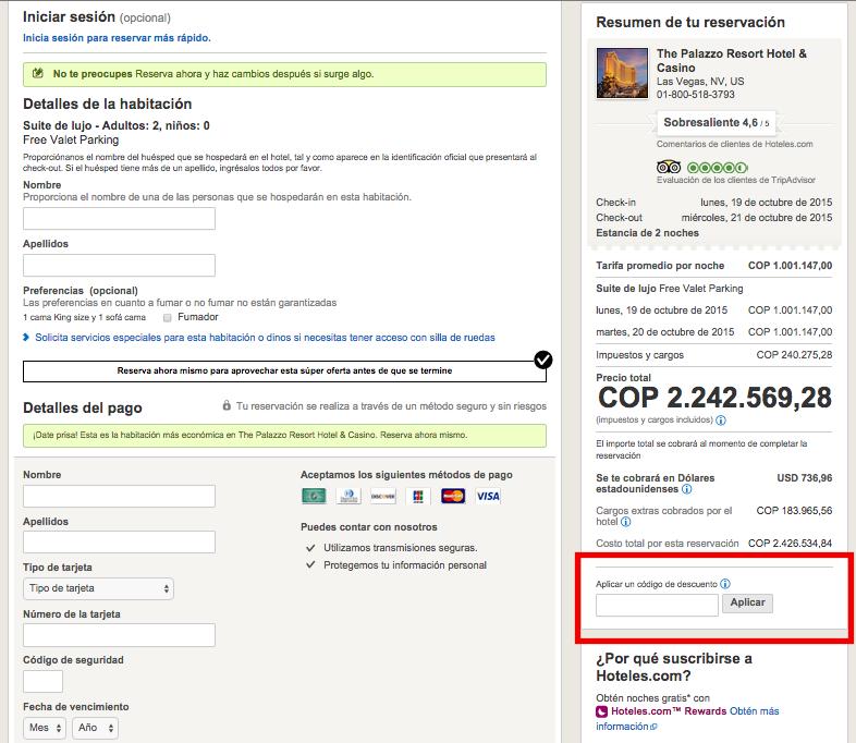 Descuento Código Descuento Hoteles.com Colombia