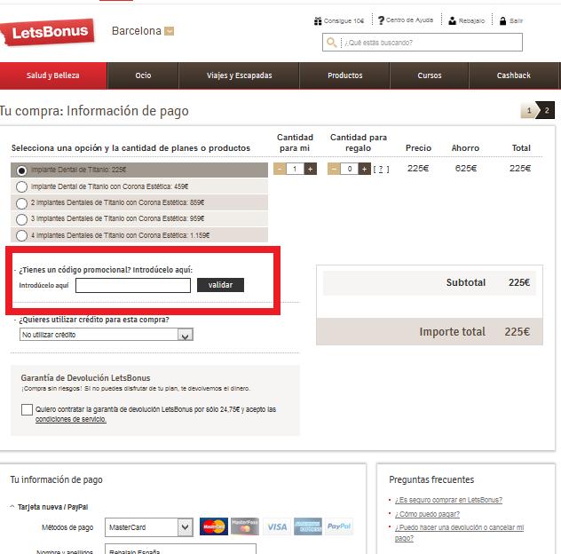 Descuento Código Promocional LetsBonus Chile