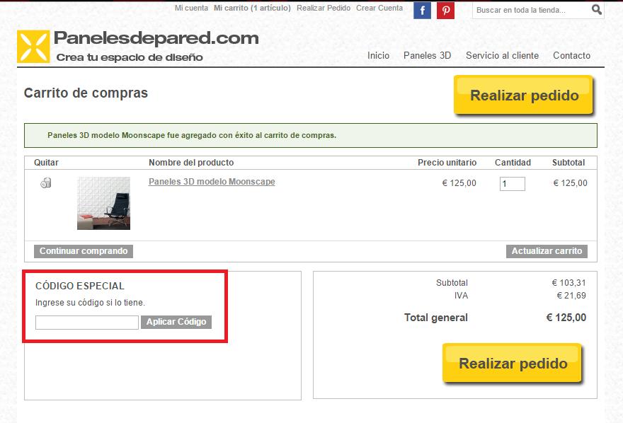 Descuento Código Descuento Panelesdepared.com