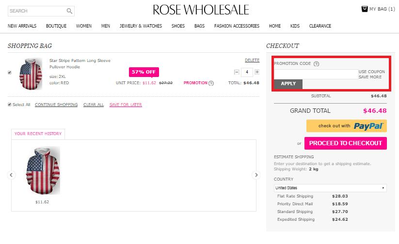 Descuento Cupón Descuento Rose WholeSale