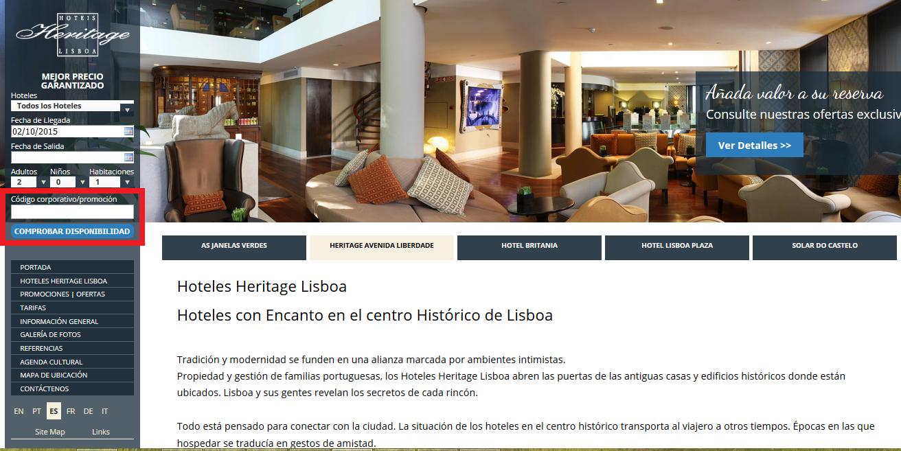 Descuento Código Descuento Heritage Lisboa