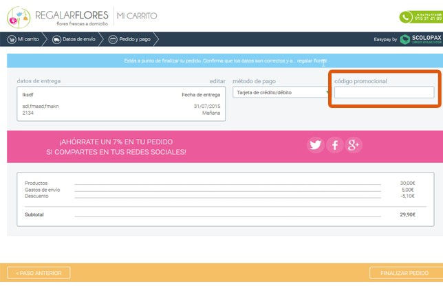 Descuento Código Descuento Regalarflores.net