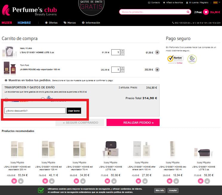 Descuento Código Descuento Perfumes Club