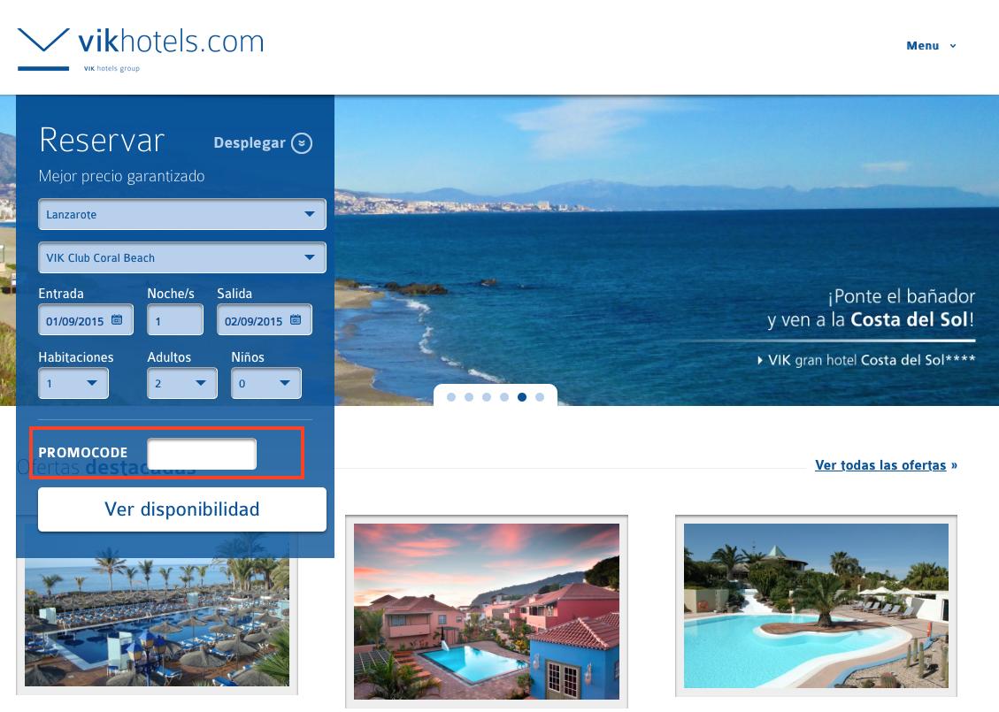 Descuento Promocode Vik Hotels