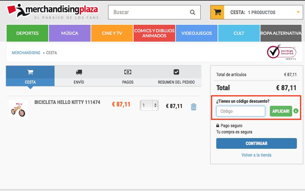 Descuento Código Descuento MerchandisingPlaza