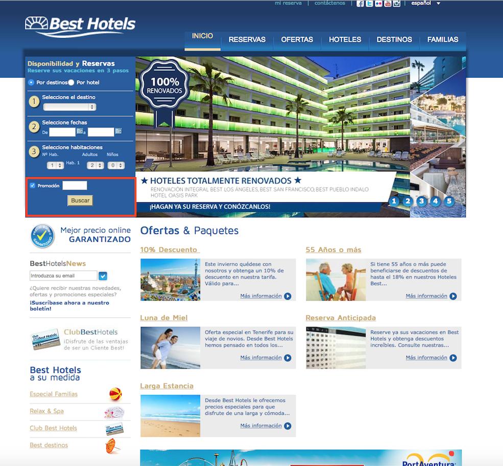 Descuento Cupón Descuento Best Hotels