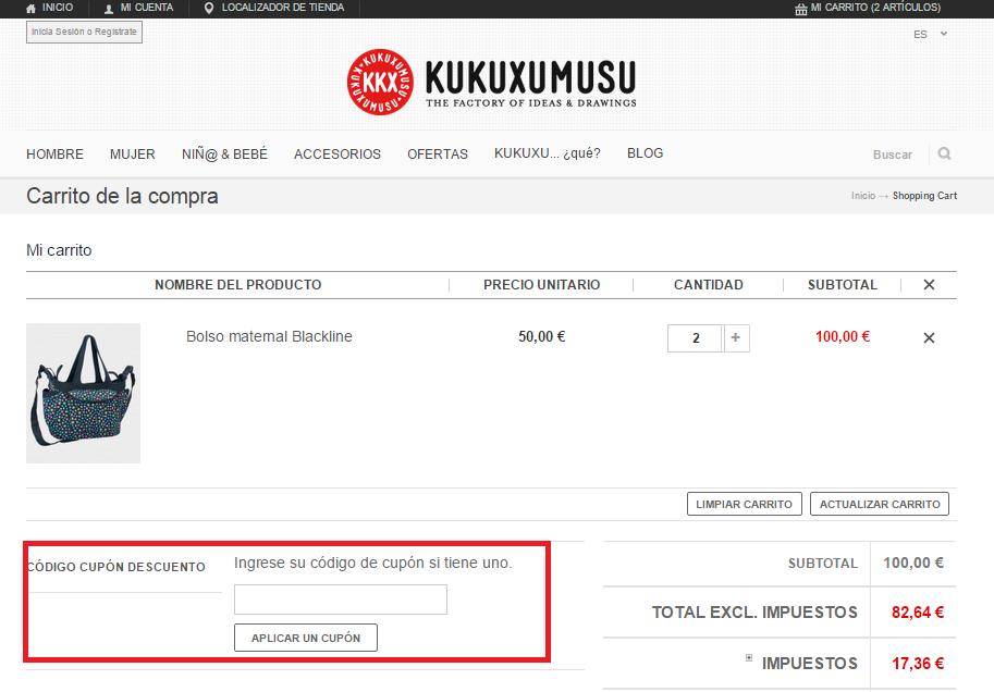 Descuento Código Promocional Kukuxumusu