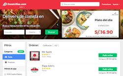 Los mejores Cupones de Descuento Domicilios.com Perú 2018