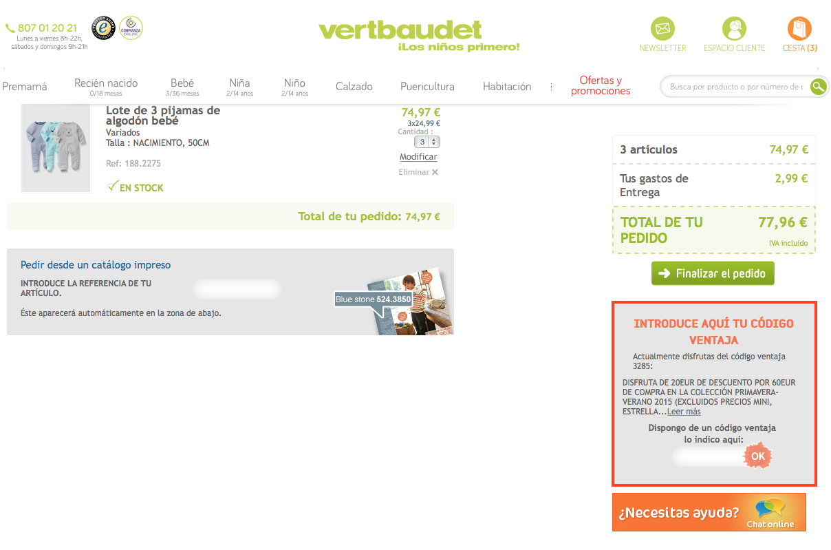 Descuento Código Descuento Vertbaudet