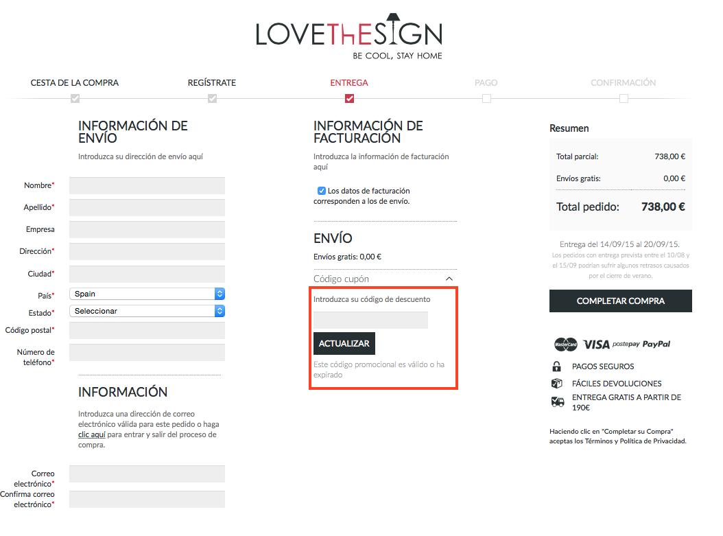 Descuento Código Descuento LoveTheSign