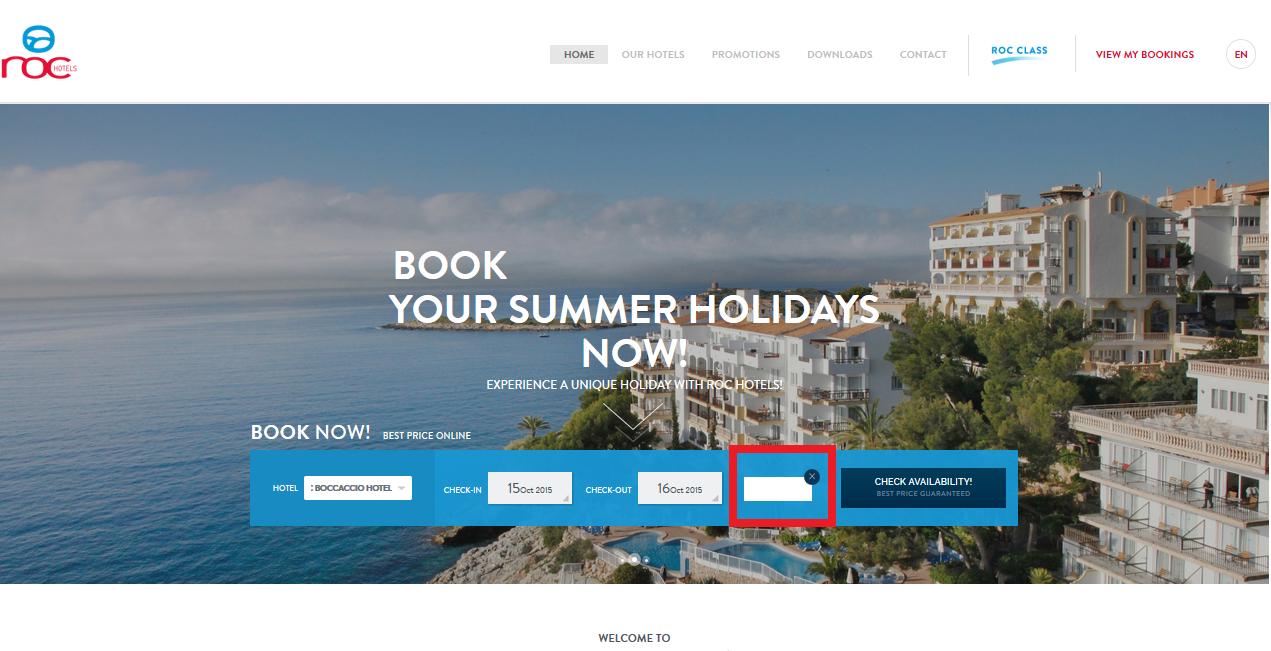 Descuento Código promocional Roc Hotels