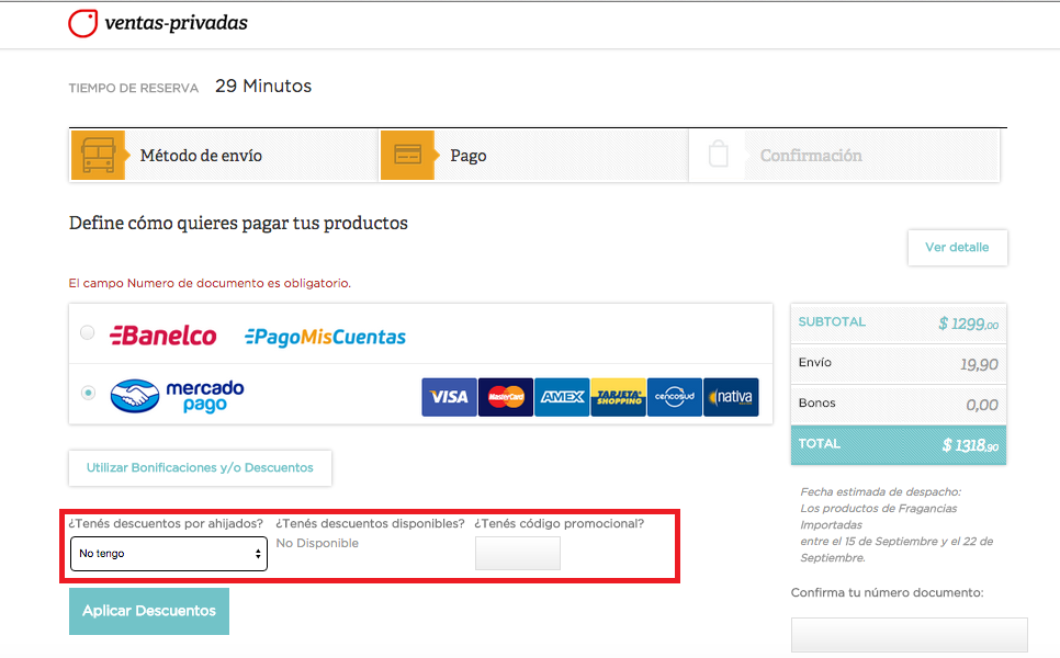 Descuento Código Promocional Ventas Privadas Argentina