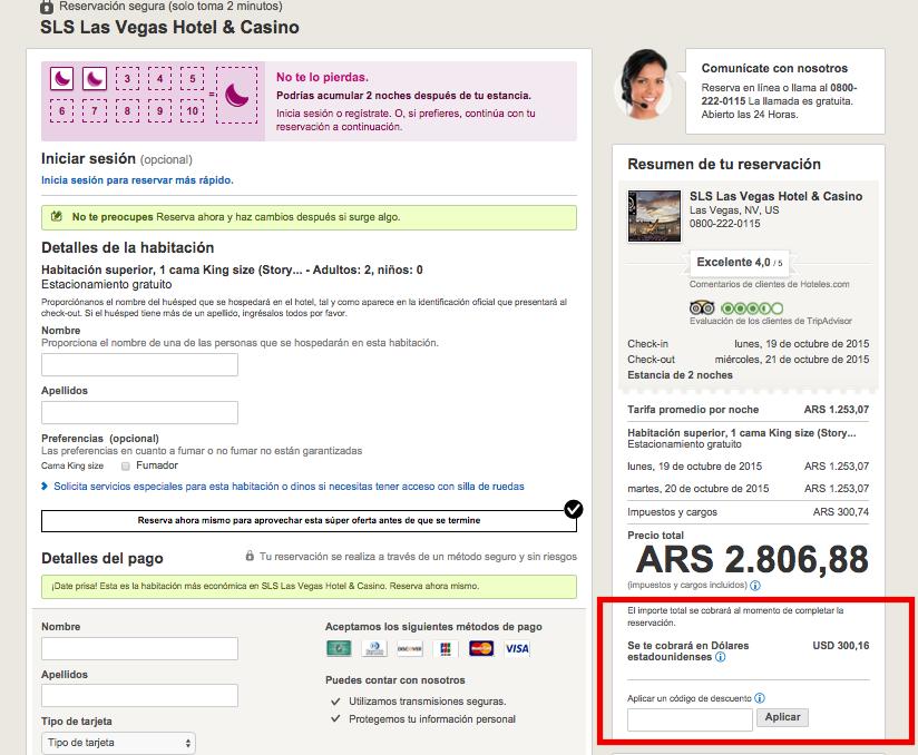 Descuento Código Descuento Hoteles.com Argentina