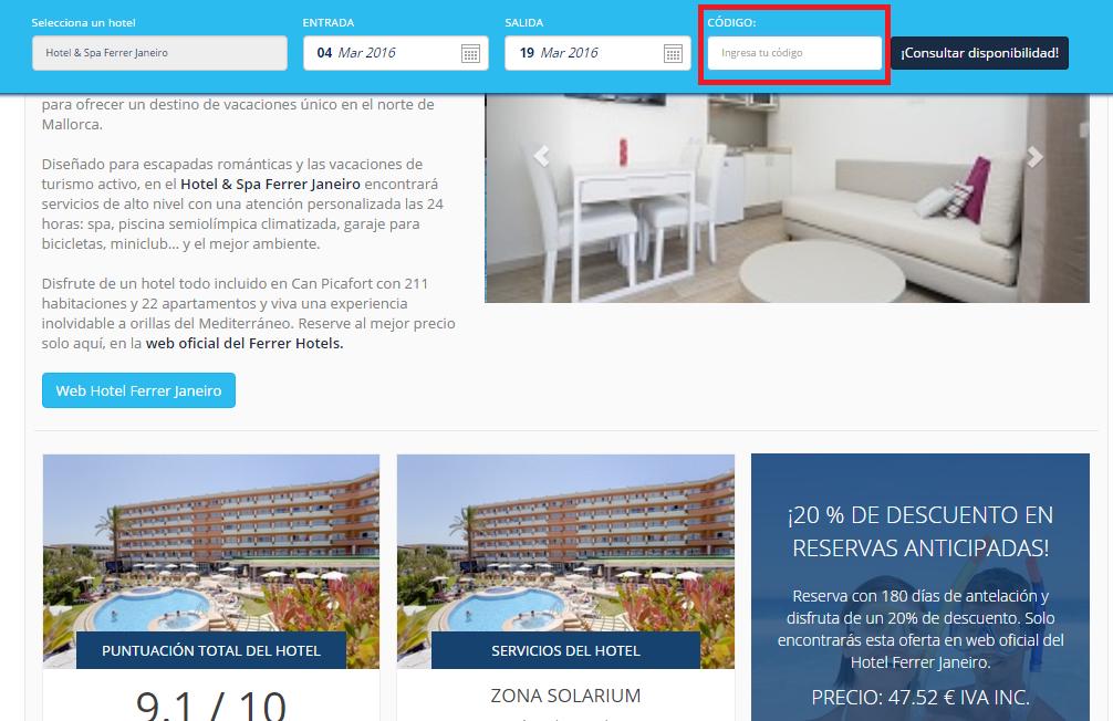 Descuento Código Descuento Ferrer Hotels
