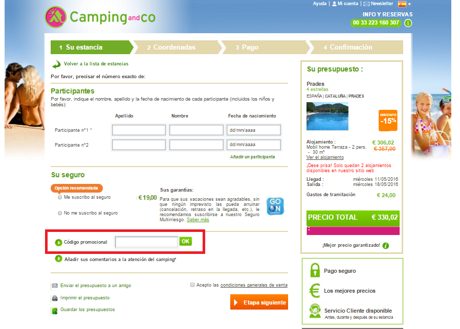 Descuento Cupón Promocional Camping and Co