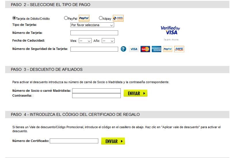 Descuento Código Promocional Real Madrid Shop