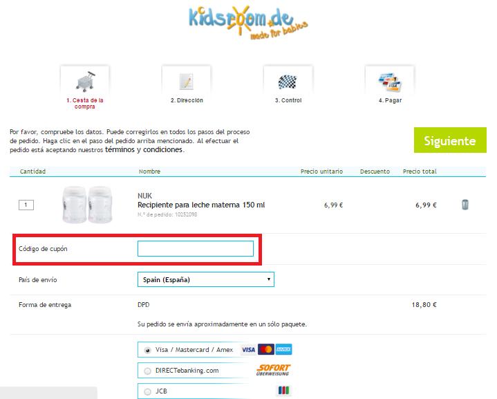 Descuento Código Promocional Kidsroom