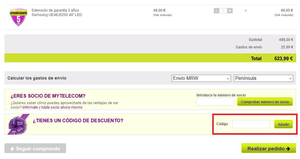 Descuento Código Descuento Mytelecom