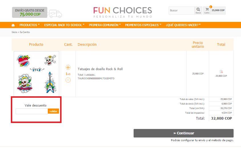 Descuento Vale Descuento Fun Choices Colombia
