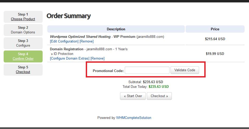 Descuento Código Promocional WebHostingPad
