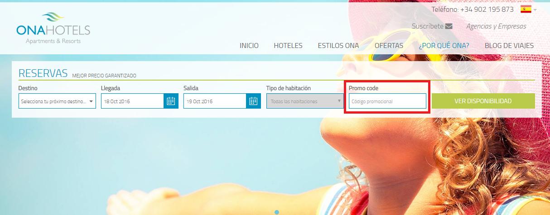 Descuento Código Promocional Ona Hoteles
