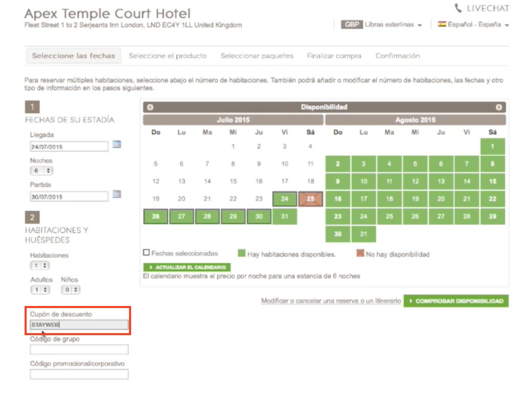 Descuento Código Descuento Apex Hotels