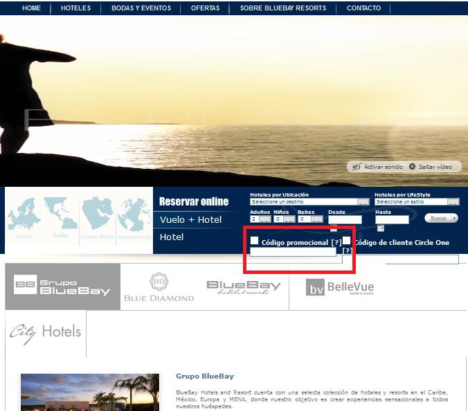 Descuento Código Promocional Blue Bay Resorts