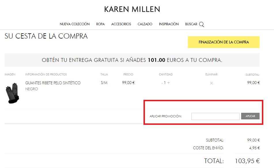 Descuento Código Promoción Karen Millen