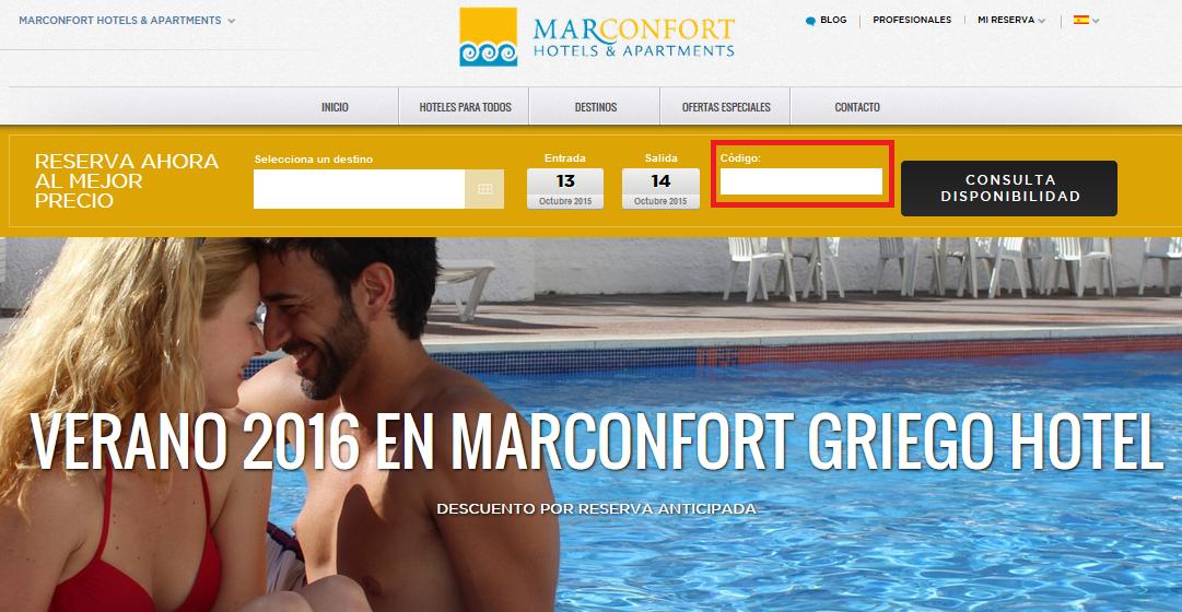 Descuento Código Promocional Marconfort