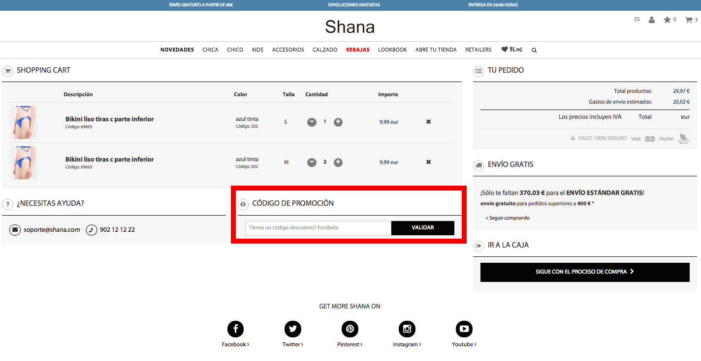 Descuento Código Descuento Shana