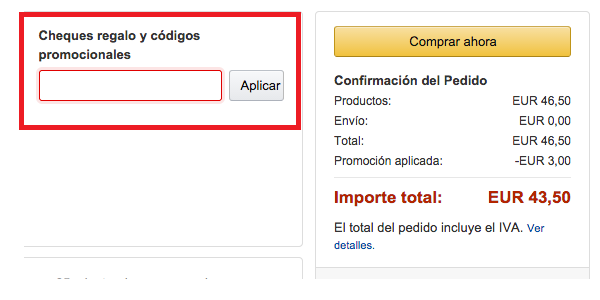 CODIGO DES UENTO AMAZON